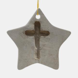 Ursprüngliches christliches Kreuz fertigen Keramik Ornament