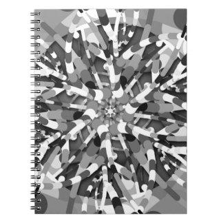 Ursprüngliches Ei - black&white abstrakte Notizblock