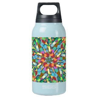 Ursprüngliches Ei - multi Farbabstrakte Explosion Isolierte Flasche