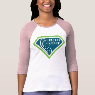 Ursprüngliches Fed ist bestes Logoraglan-Shirt T-Shirt