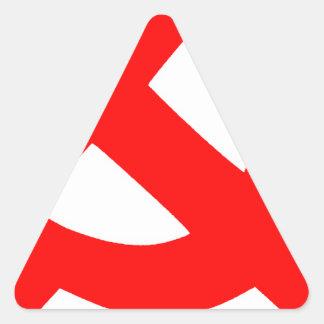 Ursprüngliches Hammer und Sichel die Sowjetunion Dreieckiger Aufkleber