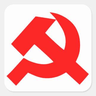 Ursprüngliches Hammer und Sichel die Sowjetunion Quadratischer Aufkleber