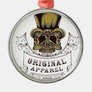 ursprüngliches Kleiderbeängstigender Schädel Silbernes Ornament