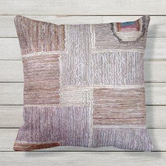 Ursprüngliches ledernes Teppichhandwerk Kissen