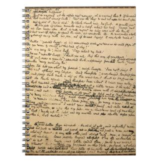 Ursprüngliches Manuskript-Notizbuch Weihnachtscaro Spiral Notizblock