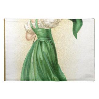 Ursprüngliches Plakat von Flaggen-Dame St. Stofftischset