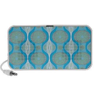 ursprüngliches Retro Gänseblümchenmuster im Blau Notebook Speaker