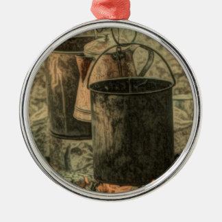 Ursprüngliches Rundes Silberfarbenes Ornament