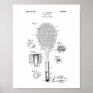 Ursprüngliches Tennis-Schläger-Patent-Plakat - Poster
