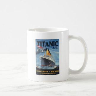 Ursprüngliches titanisches Vintages Plakat 1912 Kaffeetasse