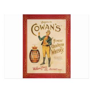 Ursprüngliches Vintages Cowan irisches Postkarte