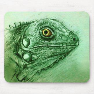 Ursprüngliches Vintages Kunst mousepad - Leguan