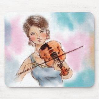 Ursprüngliches Vintages Kunst mousepad - Violine