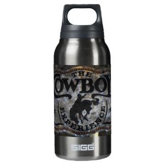 Ursprüngliches Westernland Pferdecowboyrodeo Isolierte Flasche
