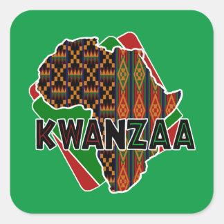 Ursprungs-Kwanzaa-Feiertags-Aufkleber Quadratischer Aufkleber