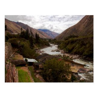 Urubamba heiliger River Valley Cusco Peru Postkarte