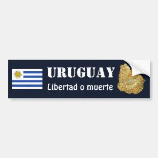 Uruguay-Flagge + Karten-Autoaufkleber Autoaufkleber
