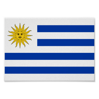 Uruguay-Flagge Poster