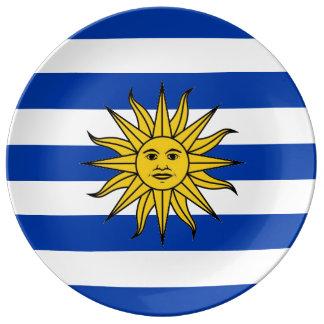 URUGUAY-Flaggen-Porzellan-Platte Porzellanteller