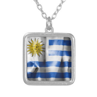 Uruguay-Flaggen-Silber überzogene Halskette