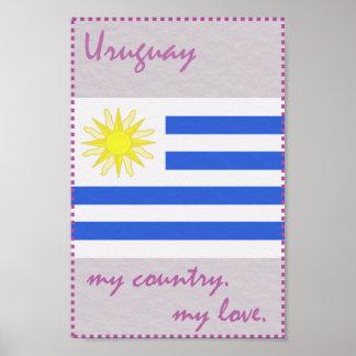 Uruguay mein Land meine Liebe Poster