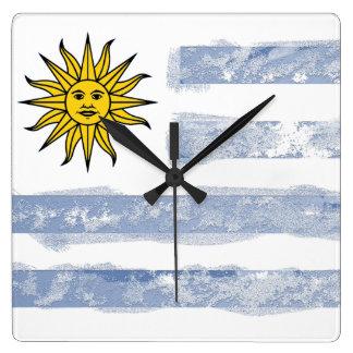 Uruguay Quadratische Wanduhr