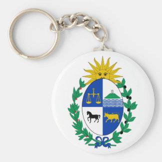 Uruguay-Wappen Keychain Standard Runder Schlüsselanhänger