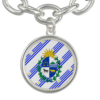 Uruguayan stripes Flagge Charm Armbänder