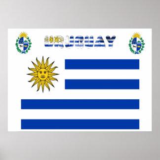 Uruguayische Flagge Poster