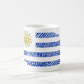 Uruguayische Touchfingerabdruckflagge Kaffeetasse