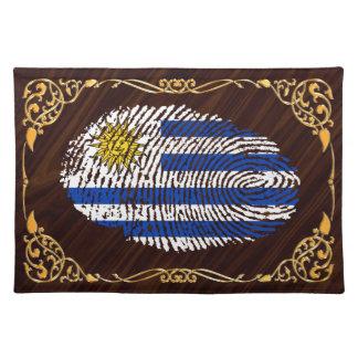Uruguayische Touchfingerabdruckflagge Stofftischset