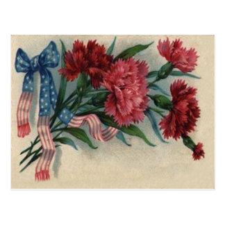 US-Band-roter Gartennelken-Volkstrauertag Postkarten