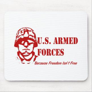 US-bewaffnete Kräfte (rot) Mousepad