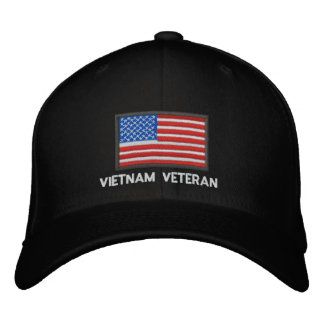 US-Flagge - Amerika- - Vietnam-Veteran Bestickte Kappe