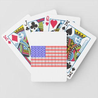 US Flagge auf einem Zaun Bicycle Spielkarten