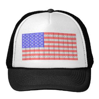 US Flagge auf einem Zaun Kultmütze