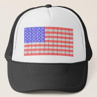 US Flagge auf einem Zaun Truckerkappe