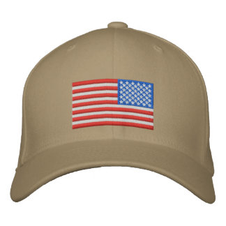 US-Flagge - aufgehoben Bestickte Kappe