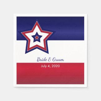 US Flagge, das Papierservietten Wedding ist Serviette