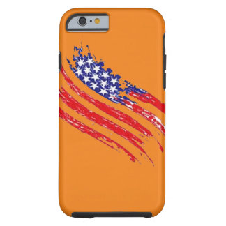 US-Flagge, die harten Kasten des Hipsterapfels Tough iPhone 6 Hülle