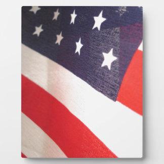 US Flagge Fotoplatte