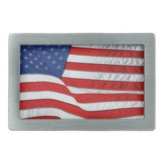 US-Flagge für amerikanische Patrioten Rechteckige Gürtelschnalle