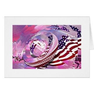 US Flagge-für immer Gruß-Karte Karte