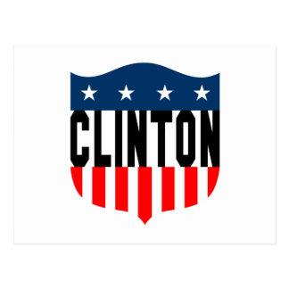 US Flagge Hillary Clinton Postkarte