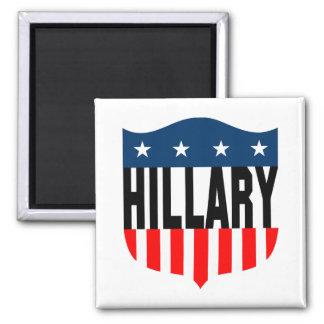 US Flagge Hillary Clinton Quadratischer Magnet