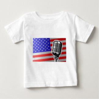 US Flagge-Mikrofon Baby T-shirt
