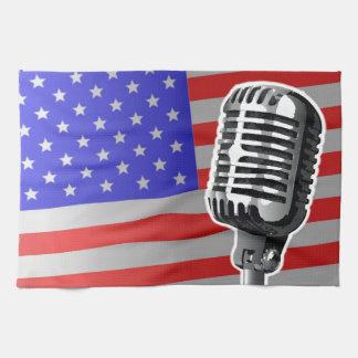 US Flagge-Mikrofon Geschirrtuch
