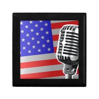 US Flagge-Mikrofon Schmuckschachtel
