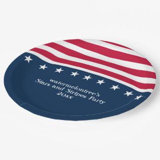 US Flagge-Party-personalisierter PapierTeller