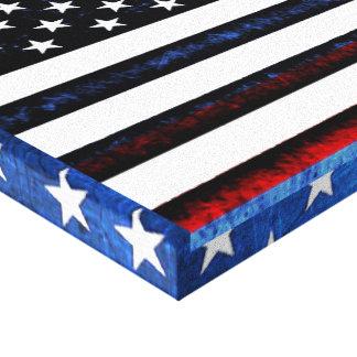 US-Flagge-patriotische rote weiße blaue Wand-Kunst Leinwanddruck